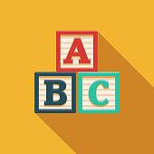 istock Alphabet Blocks Children's Toy Icon 1094239576