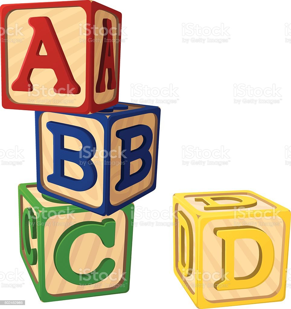 Alphabet Blocks vector art illustration