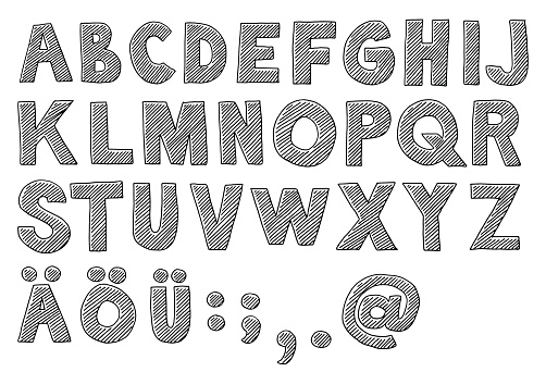 Alphabet Capital Letters Drawing