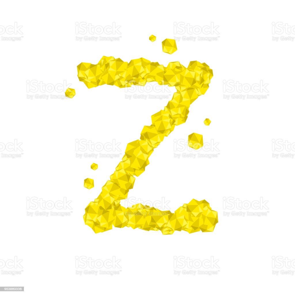 Alphabet Crystal Diamond 3d Virtual Set Letter Z