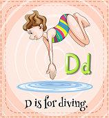 Alphabet D  diving