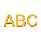 Alphabet Folder Icon on Transparent Background