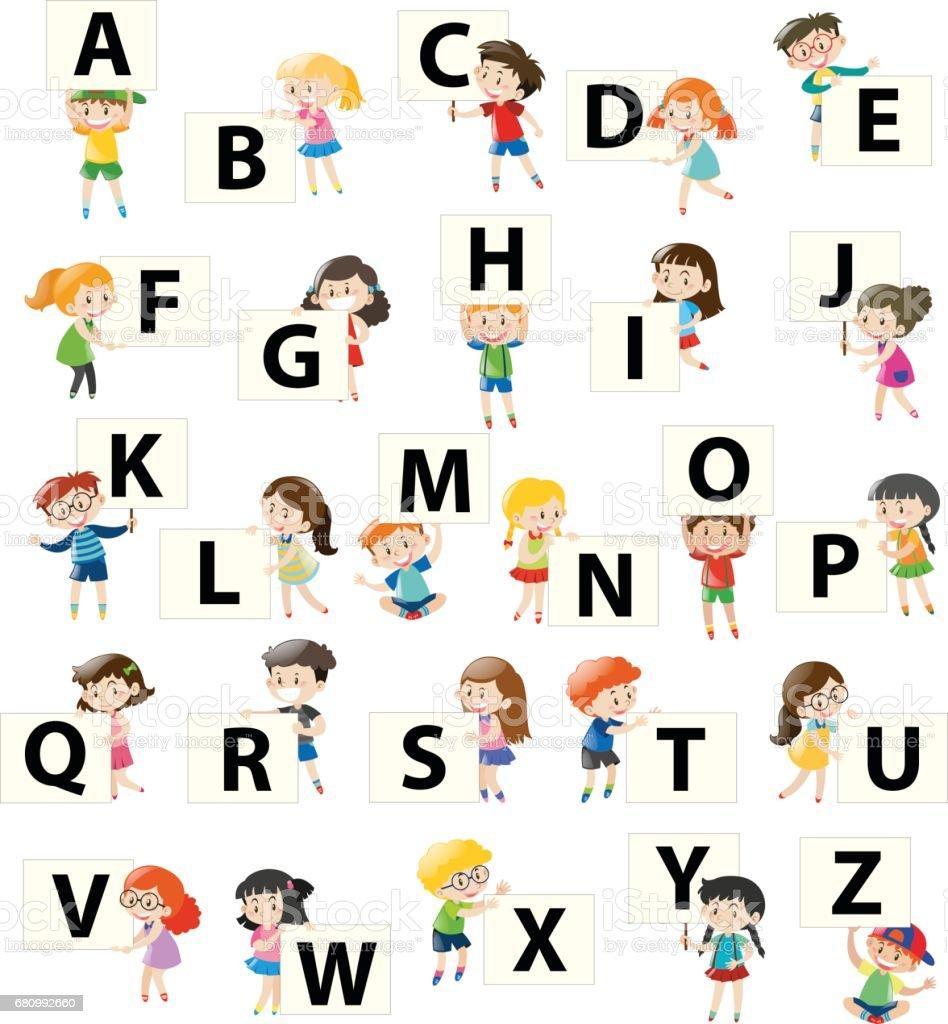 Alphabet font design on square board royalty-free alphabet font design on square board stock vector art & more images of alphabet