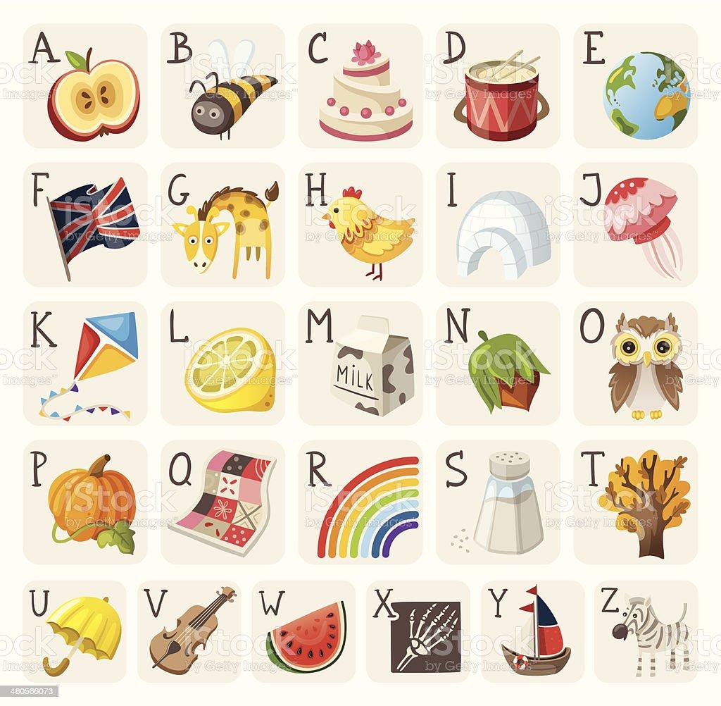 Alphabet for children vector art illustration