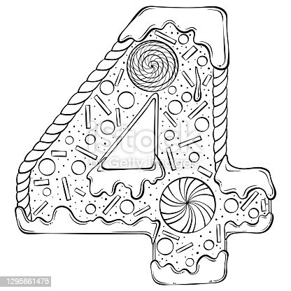 istock Alphabet gingerbread serial number 4 1295661475