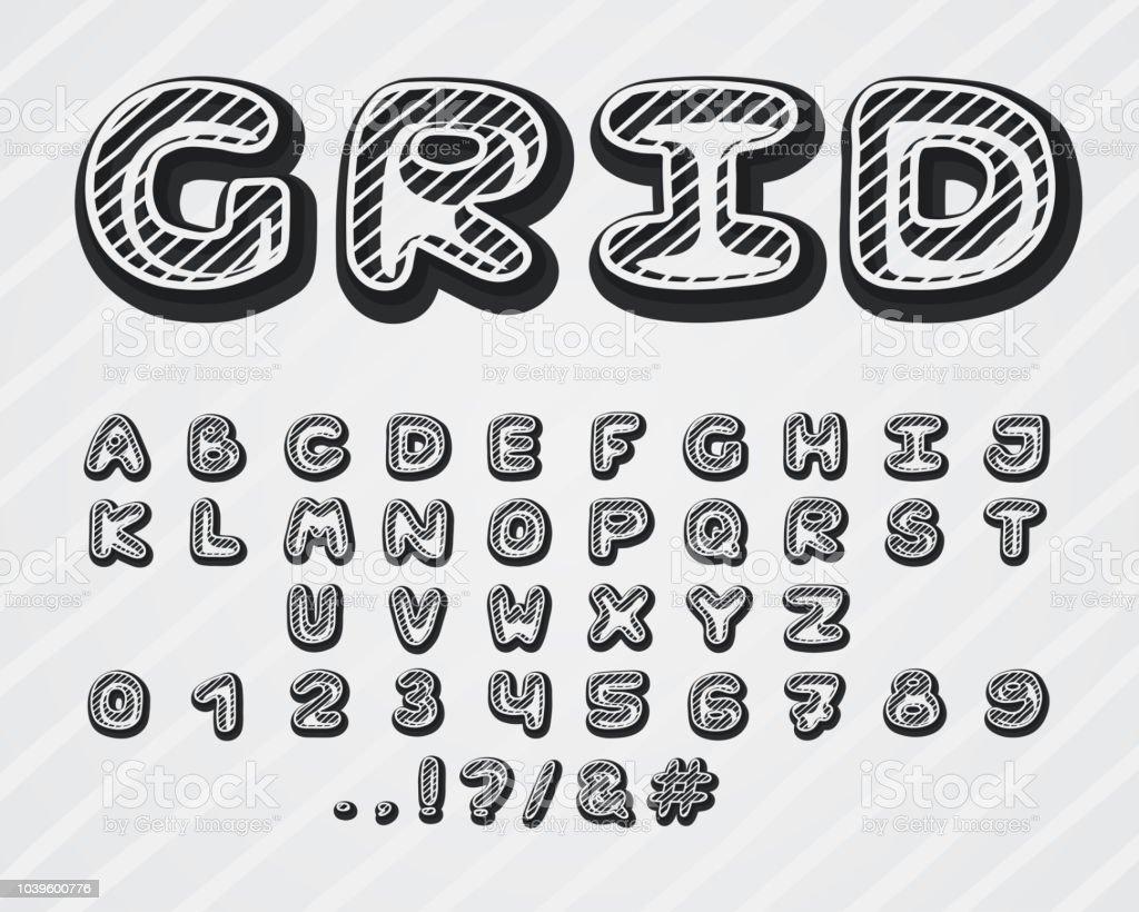 Plantilla De Letras plantillas alfabeto número Artesanía Formas Inglés cursiva fuente