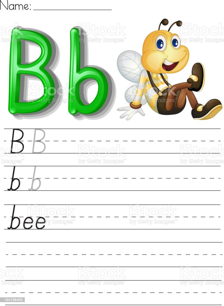 Alphabet handwriting series royalty-free stock vector art