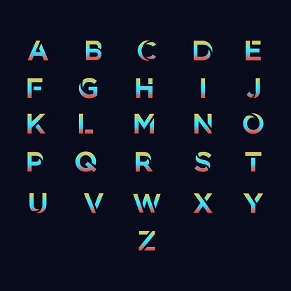 Alphabet Illustration Vector Template