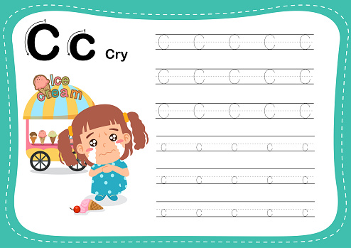 Alphabet Letter C - Cry exercise