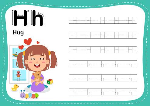 Alphabet Letter H - Hug exercise