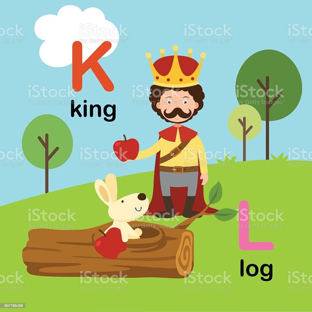 Alphabet Letter Kkingllogillustration Stock Vector Art & More Images ...