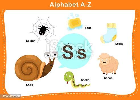 istock Alphabet Letter S vector 1248422550