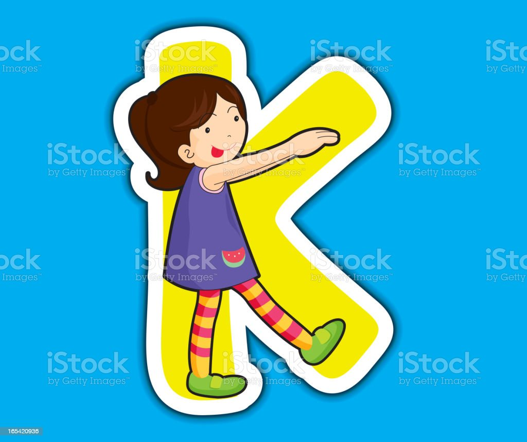 Alphabet letter series royalty-free stock vector art
