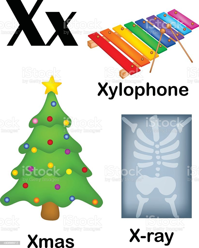 Alphabet Letter X Pictures Stock Illustration