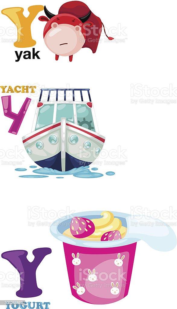 alphabet letter - Y vector art illustration