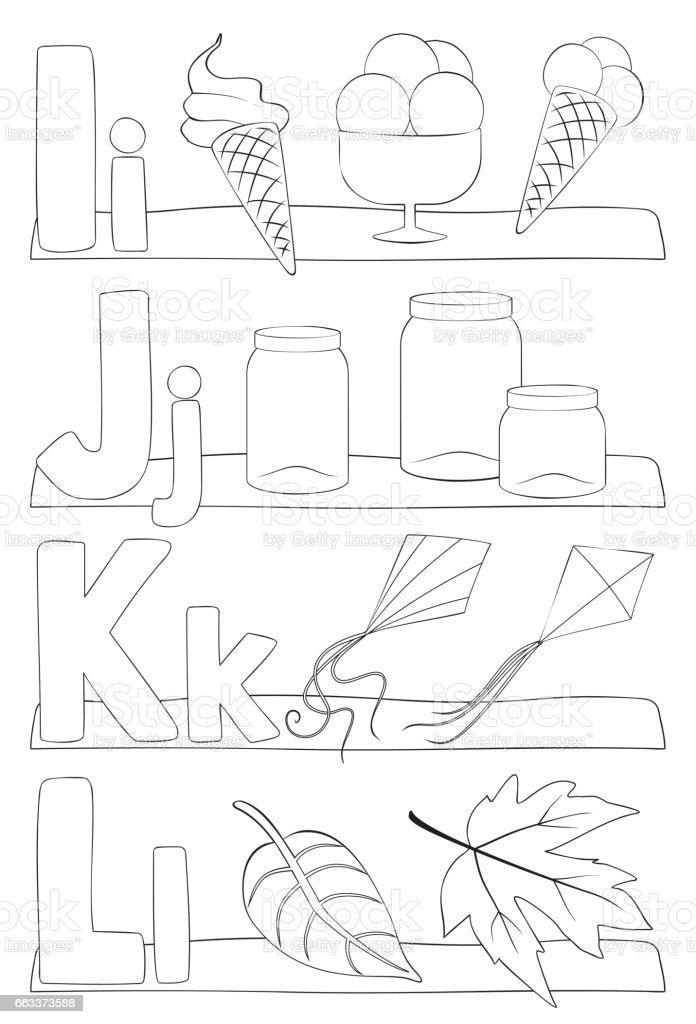Kleurplaten Letters Alfabet.Alfabet Letterskleurplaat Stockvectorkunst En Meer Beelden