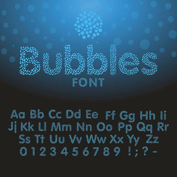 アルファベット文字からブルーの泡 - バブルのフォント点のイラスト素材/クリップアート素材/マンガ素材/アイコン素材