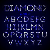Alphabet letters from diamonds