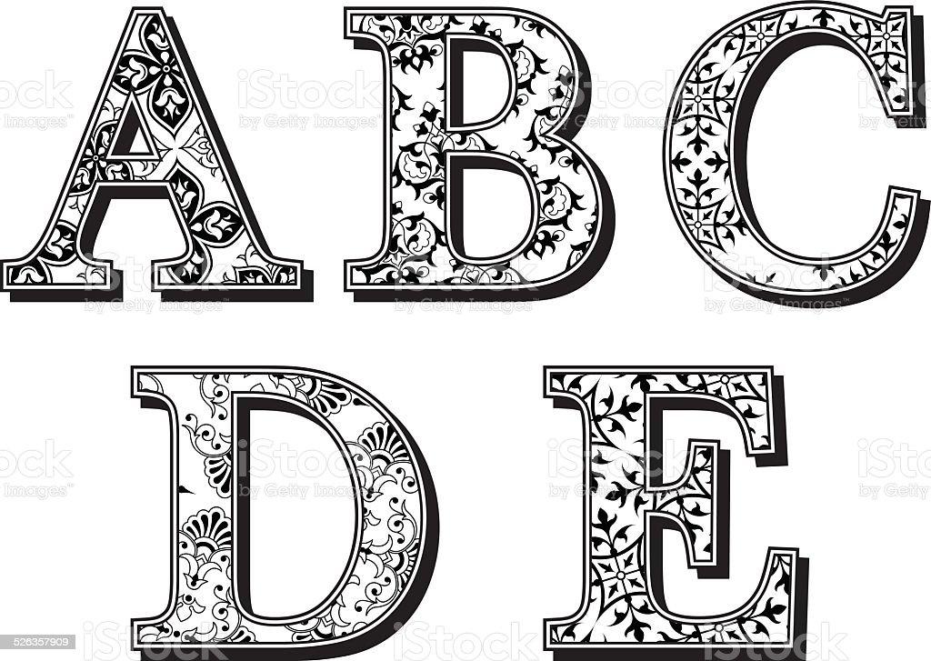 Patterns Letters Alphabet