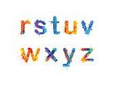 アルファベット。R、s、t、u、v、w、x、y、3 の z. パート 3 を手紙します。