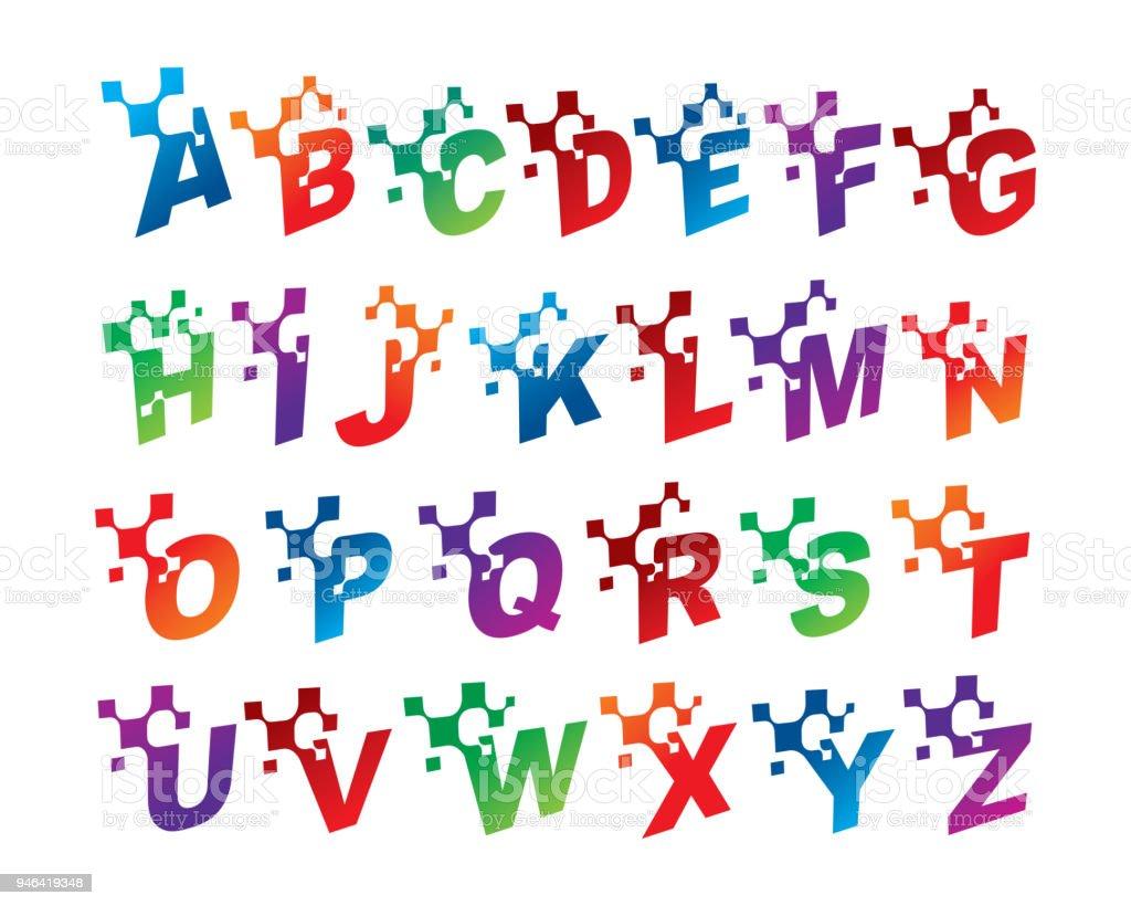 Alphabet Letters Template Design Emblem Concept Creative Symbol Icon Royalty