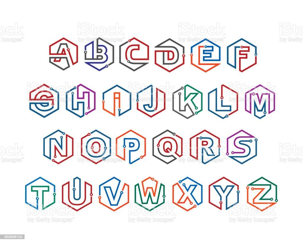 Alphabet Letters Template Design Emblem Design Concept Creative