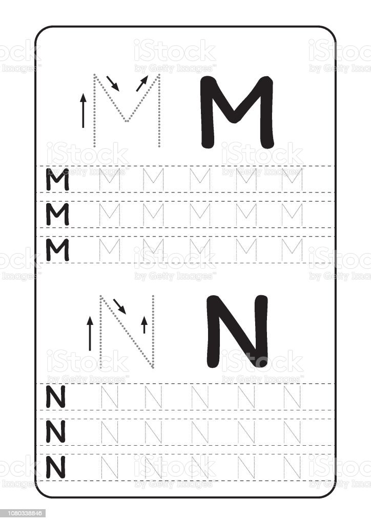 Abc Alphabet Letters Tracing Worksheet With Alphabet Letters Basic Writing  Practice For Kindergarten Kids A4 Paper Ready To Print Vector Illustration  Stock Illustration - Download Image Now - IStock
