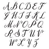 Alphabet letters: uppercase.