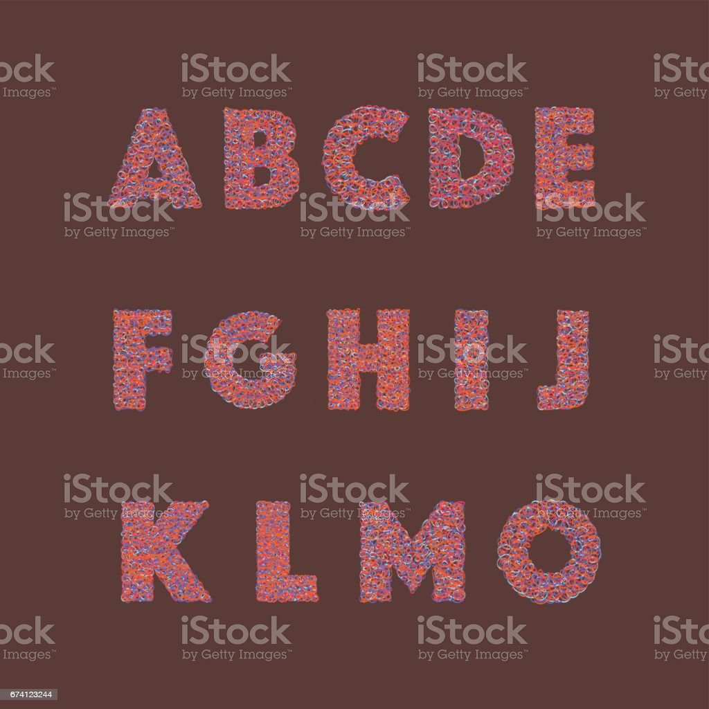 與抽象的七彩塗鴉字母塗鴉風格 免版稅 與抽象的七彩塗鴉字母塗鴉風格 向量插圖及更多 互聯網 圖片