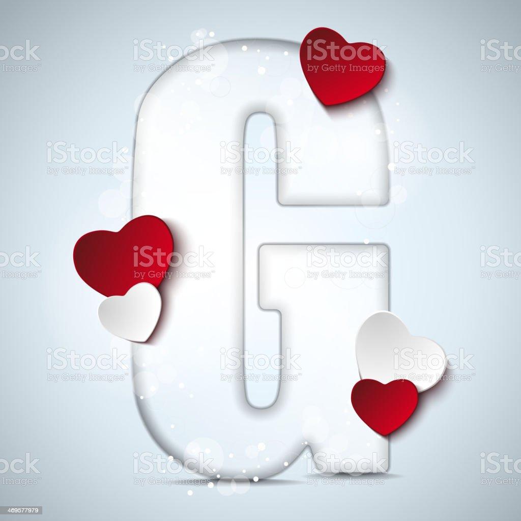 Decorazioni Lettere D Amore alfabeto lettere di san valentino giorno con cuore rosso