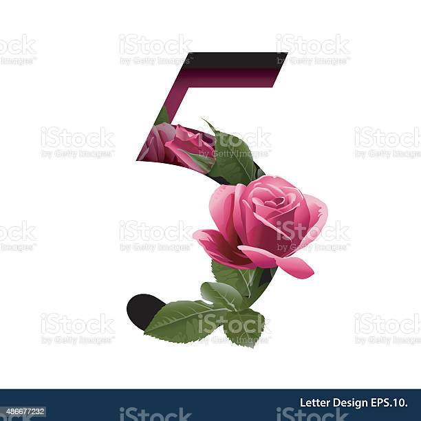 Alphabet number five with flower vector illustration vector id486677232?b=1&k=6&m=486677232&s=612x612&h=ubmii q a9il4oovacdojjsd  0dxb1mea4lbr h07k=