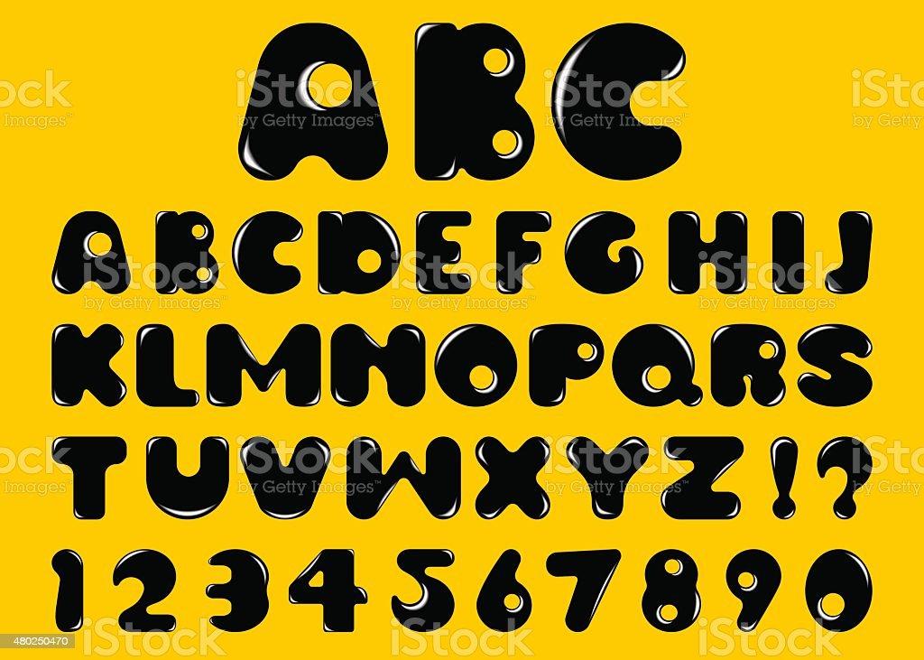 alphabet of bubbles vector art illustration