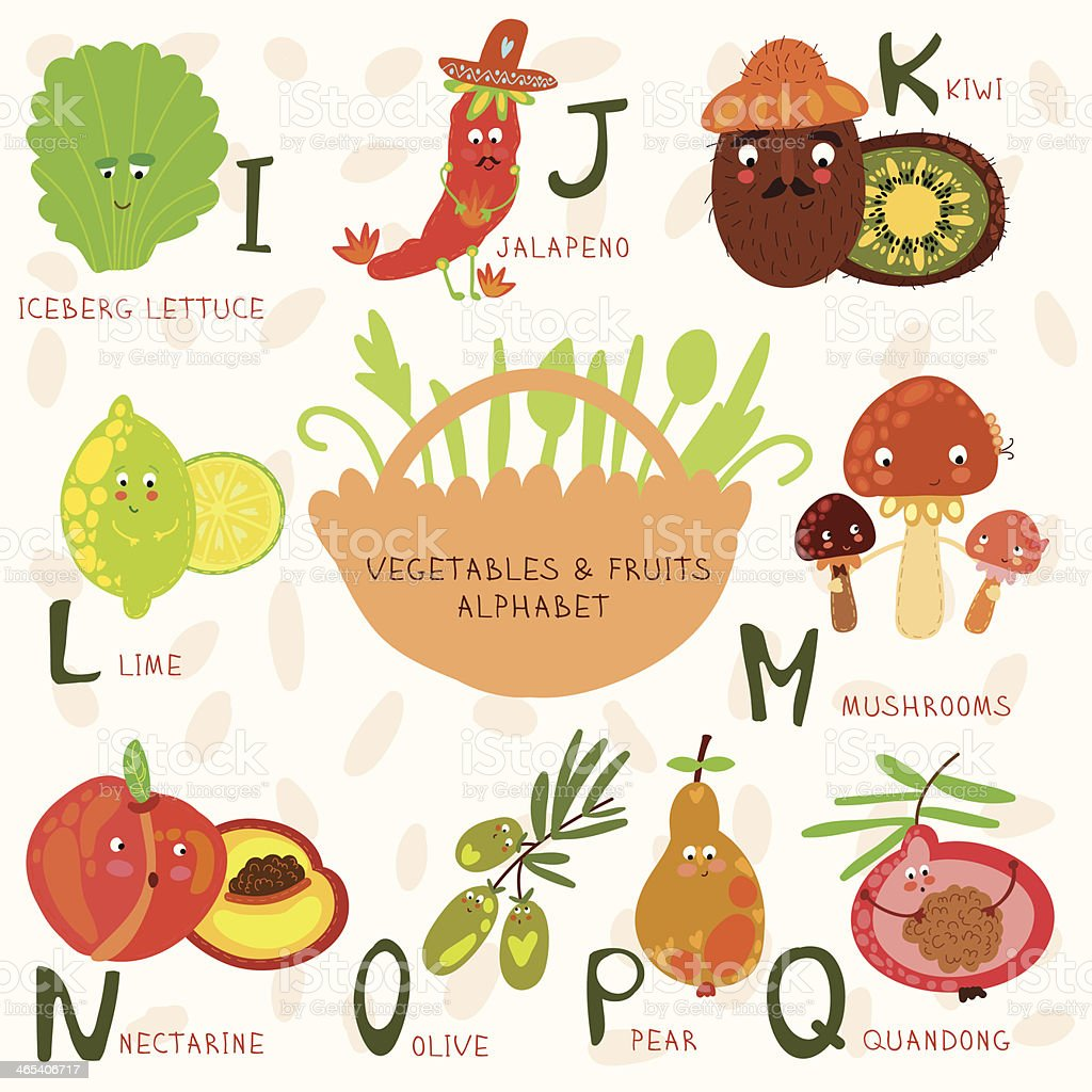 Alphabet Fruit And Ve ables Stock Vector Art & More of