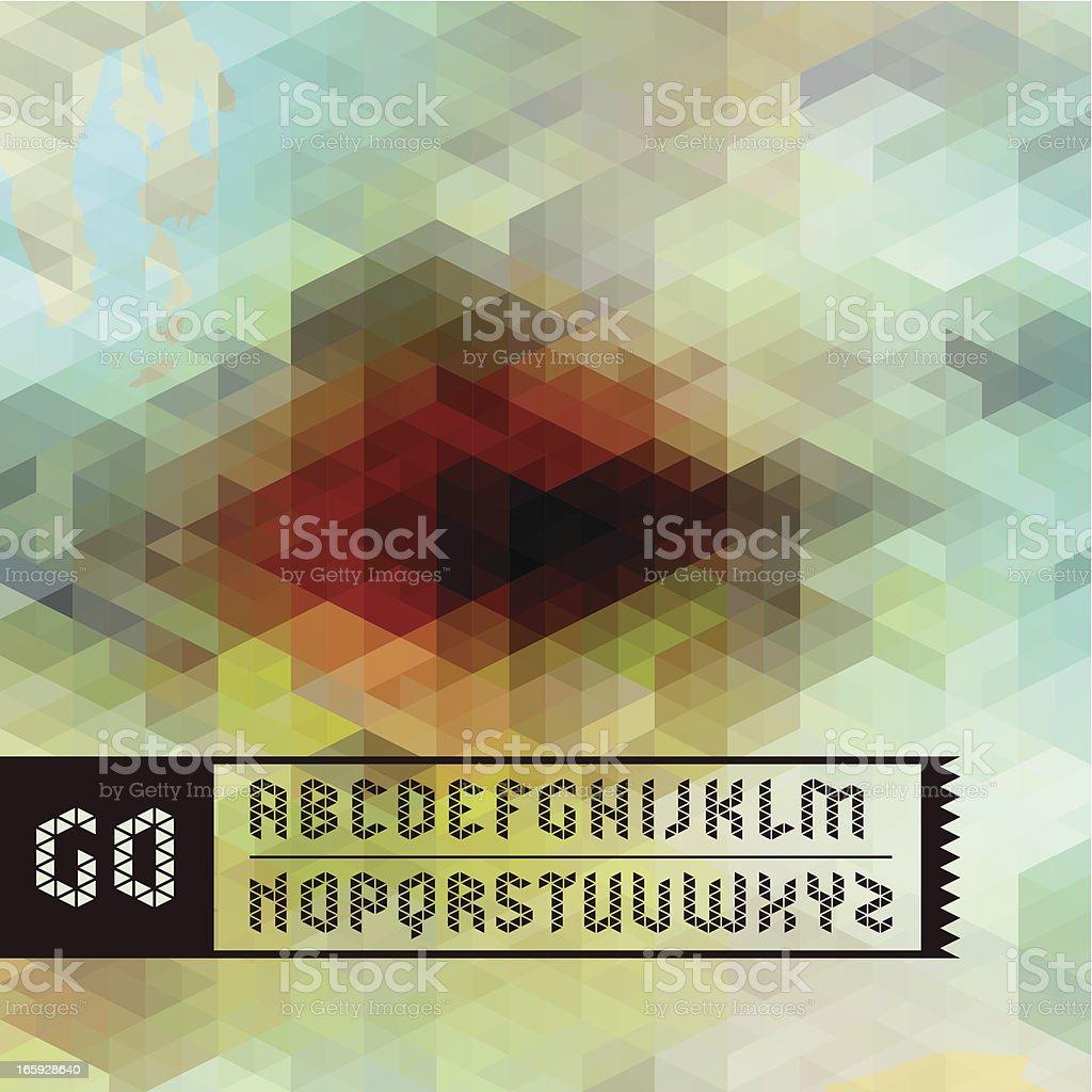 alphabet on artwork vector art illustration
