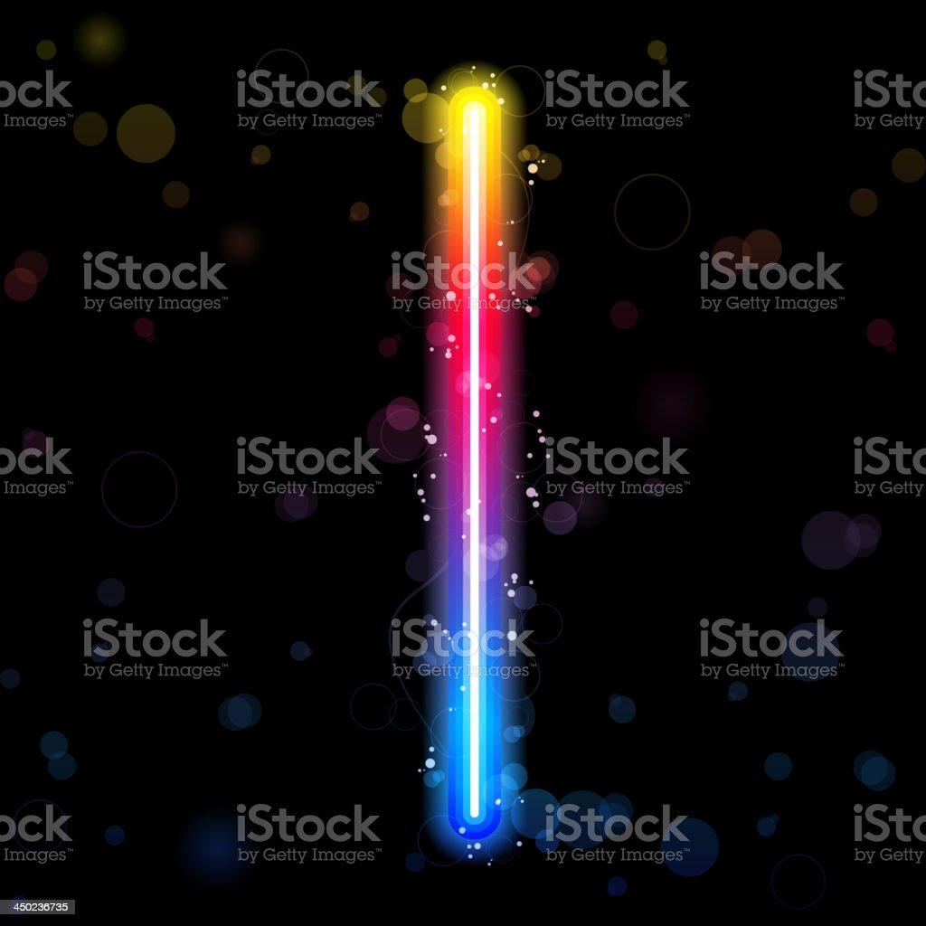 Alphabet Rainbow Lights Glitter With Sparkles Royalty Free Stock
