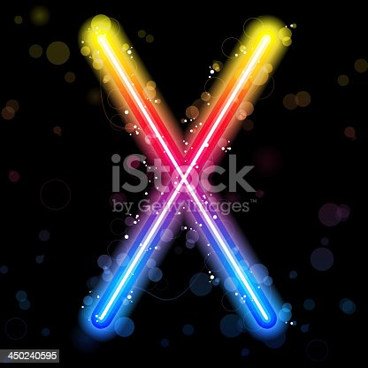 istock Alphabet Rainbow Lights  Glitter with Sparkles 450240595