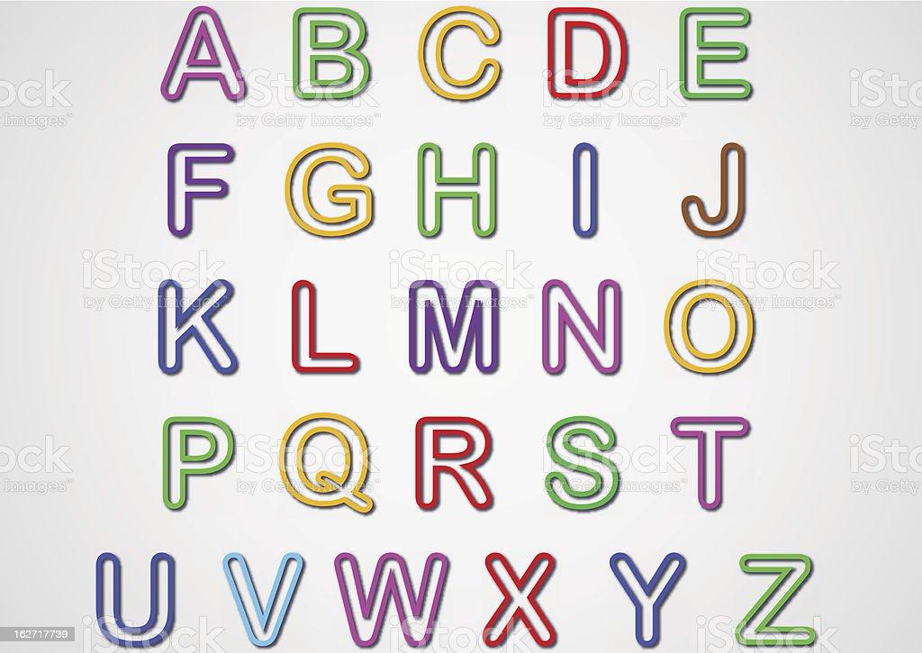 Alphabet Set royalty-free stock vector art