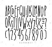 Alphabet straight lines font