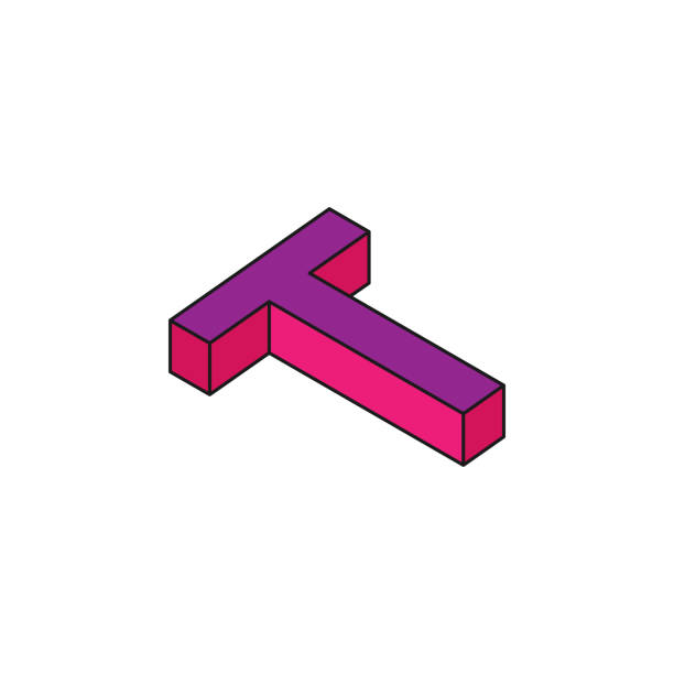 alphabet t 3d colored isometric icon element of 3d words and symbols icon for