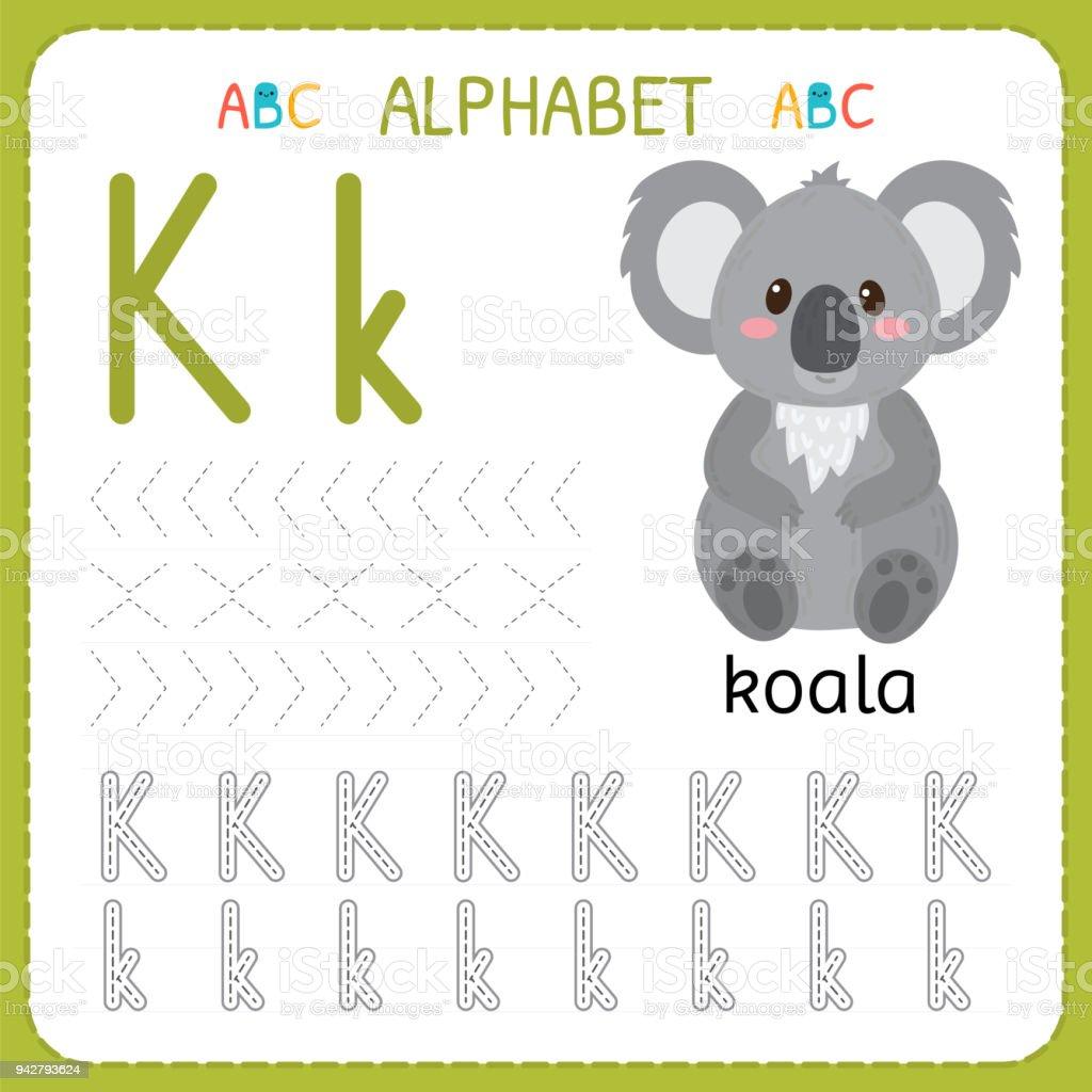 Alphabetablaufverfolgungarbeitsblatt Für Vorschule Und Kindergarten ...