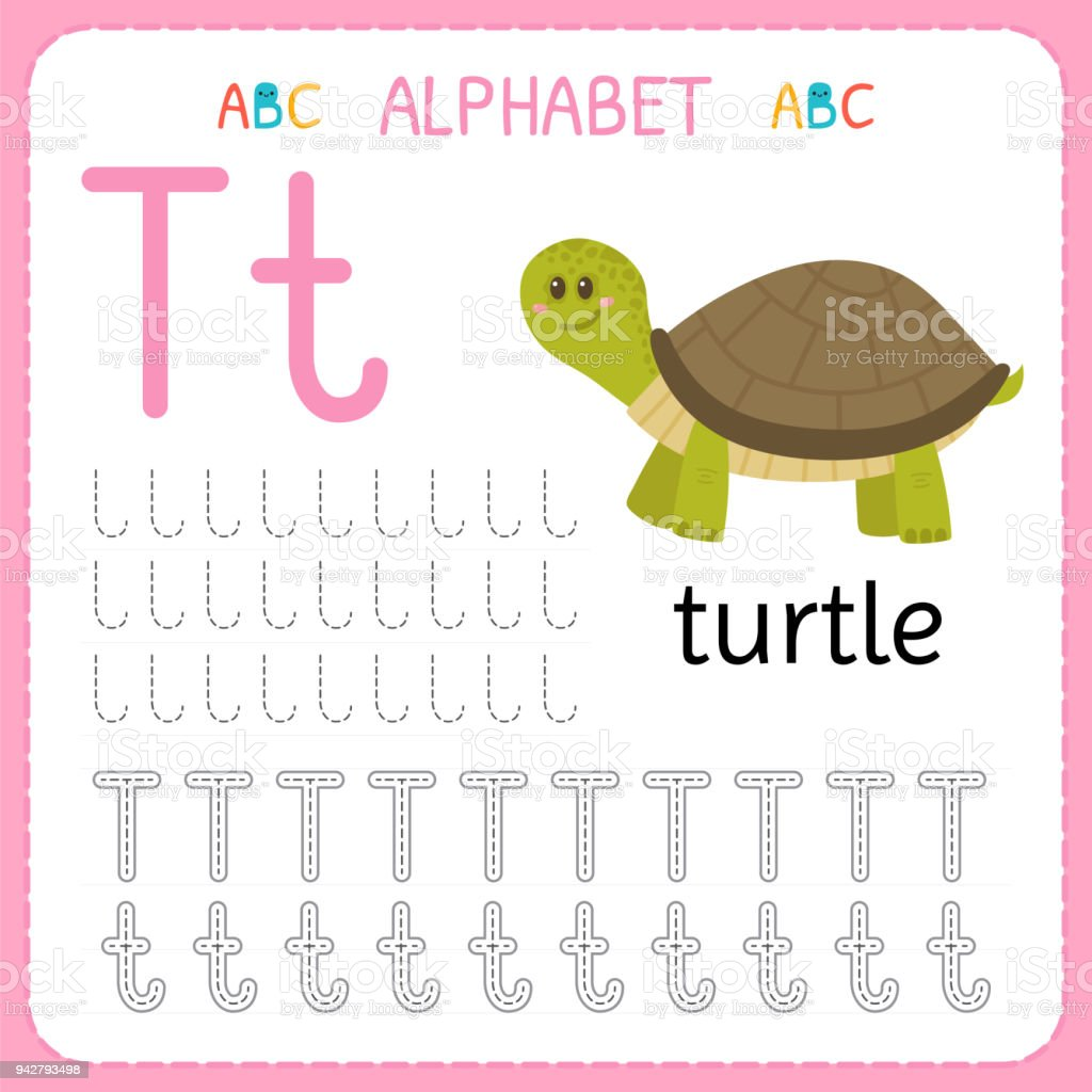 Alphabet Tracing Worksheet For Preschool And Kindergarten Writing