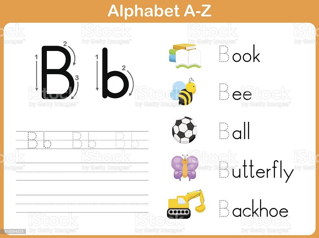 Alphabet Tracing Worksheet Writing Az Stock Illustration - Download Image  Now - IStock