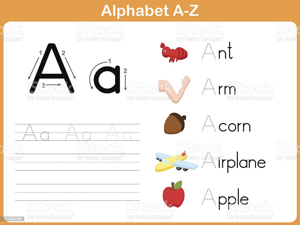 worksheet Alphabet Worksheet Set Letters Az alphabet tracing worksheet writing az stock vector art more images a z royalty free vector
