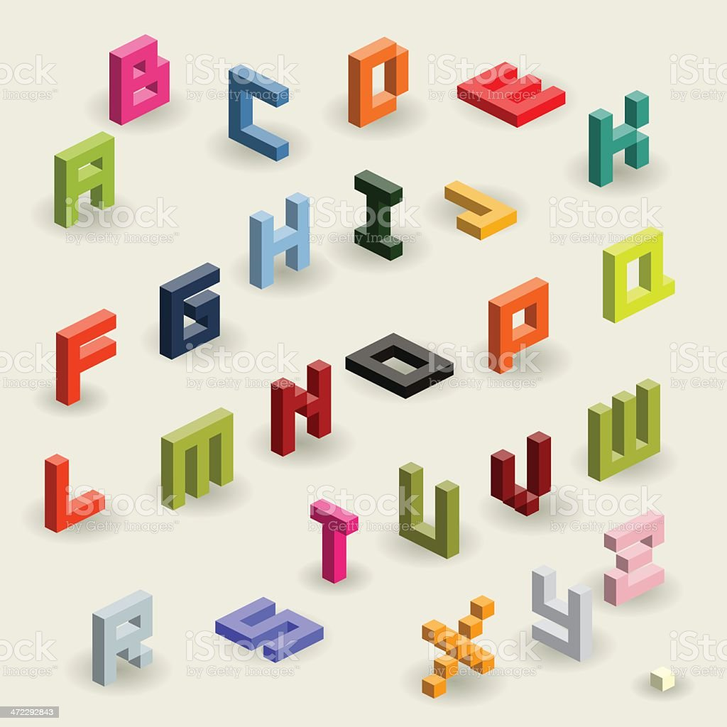 alphabet vector art illustration