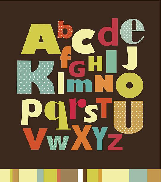 illustrations, cliparts, dessins animés et icônes de lettre de l'alphabet - type d'image