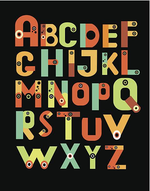 alfabet - składany stan stock illustrations