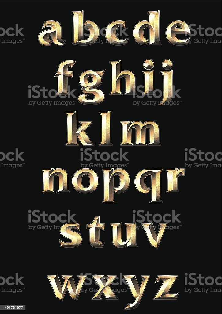 Alphabet royalty-free stock vector art