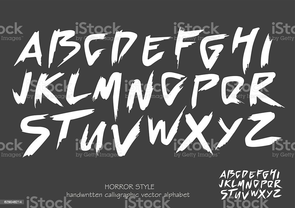 Alphabet vector set of white capital  letters on black background. vector art illustration