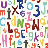Alphabet white pattern
