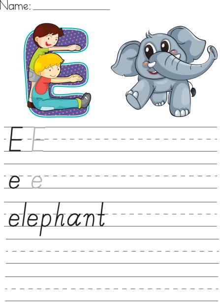 illustrations, cliparts, dessins animés et icônes de alphabet de la feuille de travail - enseignant(e) en maternelle